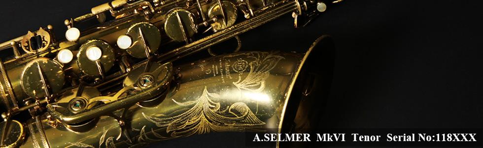 A.SELMER Mk VI Tenor Sax Serial No:118XXX