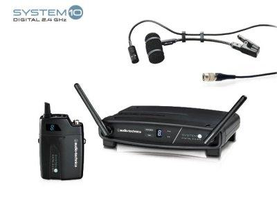 画像1: audio-technica 楽器用マイクロフォン ワイヤレスシステム 【ATW-1101 & PRO35XcW】