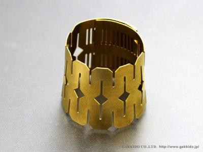 画像1: BORGANI FLEXITONE テナーサックス用リガチャー 【Brass】